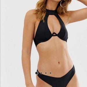 NWT river island V wire high neck sexy bikini top